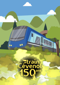 affiche train cévenol 150 ans